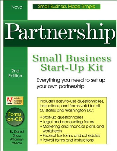 Partnership: Small Business Start-Up Kit - Book With CD-ROM
